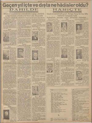 MİLLİYET SALI   İKINCİKANUN 1935 Geçenvıliçte ve dıştane hâdisler oldu? DAFHİLDE Geçen yı! memleket her zamankinden sağlam