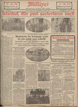OATI 5 KURUŞTUR Buncu sene No. 3234 CUMARTESİ 9 ŞUBAT 1935 T ğ SAA 1 GN