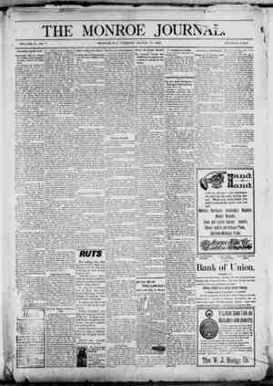 The Monroe Journal Gazetesi March 17, 1903 kapağı