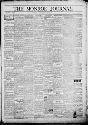 The Monroe Journal Gazetesi March 24, 1903 kapağı