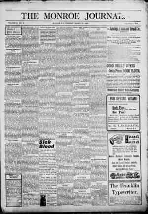 The Monroe Journal Gazetesi March 31, 1903 kapağı