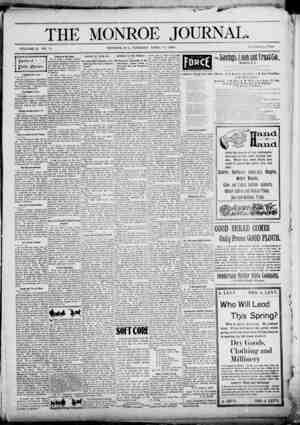The Monroe Journal Gazetesi April 14, 1903 kapağı