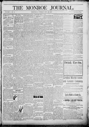 The Monroe Journal Gazetesi April 21, 1903 kapağı