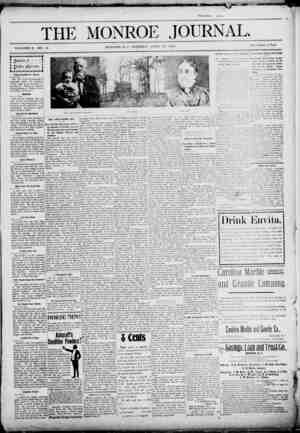 The Monroe Journal Gazetesi April 28, 1903 kapağı