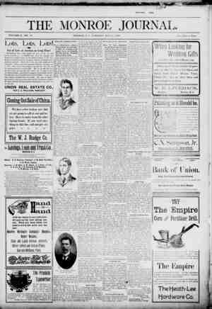 The Monroe Journal Gazetesi May 5, 1903 kapağı