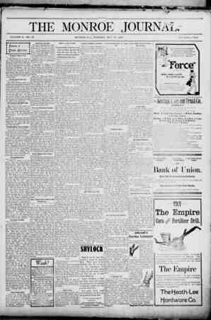The Monroe Journal Gazetesi May 19, 1903 kapağı