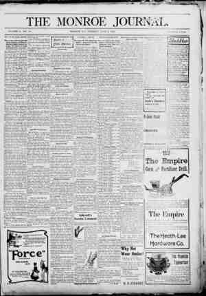 The Monroe Journal Gazetesi June 9, 1903 kapağı