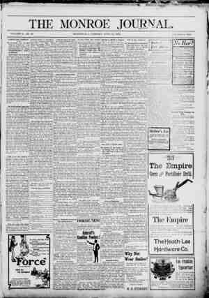 it THE MONROE VOLUME X. NO 20 MONROE, N. C, TUESDAY JUNE 16, 1003 One Dollar a Year Cl kKlINT TOI1C COMMENTS ,teuiptoiw...
