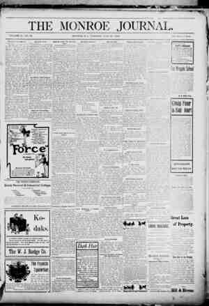 The Monroe Journal Gazetesi June 30, 1903 kapağı