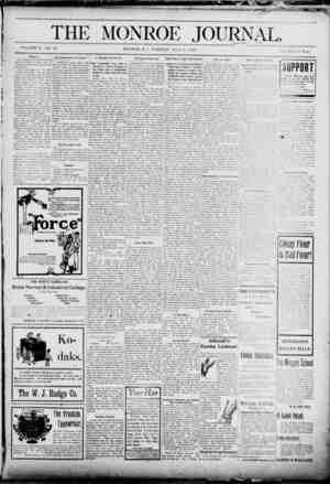 The Monroe Journal Gazetesi July 7, 1903 kapağı