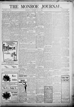 The Monroe Journal Gazetesi July 14, 1903 kapağı