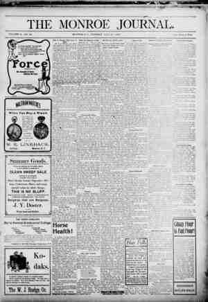The Monroe Journal Gazetesi July 21, 1903 kapağı