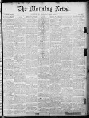 The Morning News Gazetesi 14 Nisan 1887 kapağı