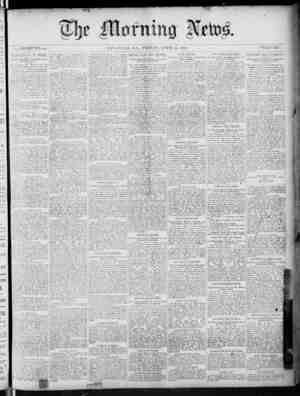 The Morning News Gazetesi 15 Nisan 1887 kapağı