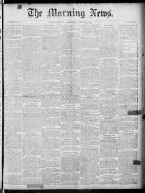 The Morning News Gazetesi 16 Nisan 1887 kapağı