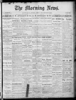 The Morning News Gazetesi 17 Nisan 1887 kapağı