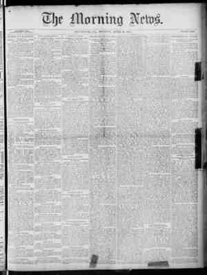 The Morning News Gazetesi 18 Nisan 1887 kapağı
