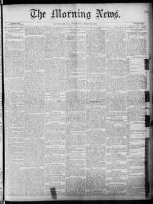 The Morning News Gazetesi 19 Nisan 1887 kapağı