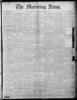 The Morning News Gazetesi 20 Nisan 1887 kapağı