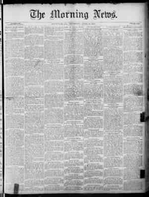 The Morning News Gazetesi 21 Nisan 1887 kapağı