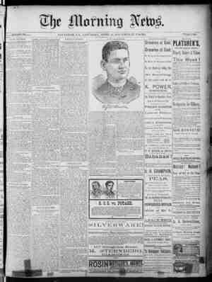 The Morning News Gazetesi 23 Nisan 1887 kapağı