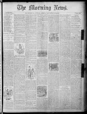 The Morning News Gazetesi 24 Nisan 1887 kapağı