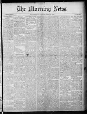 The Morning News Gazetesi 25 Nisan 1887 kapağı
