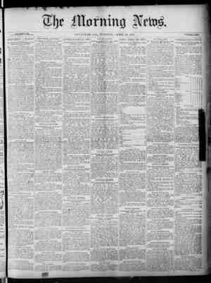 The Morning News Gazetesi 26 Nisan 1887 kapağı