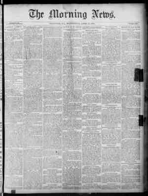 The Morning News Gazetesi 27 Nisan 1887 kapağı