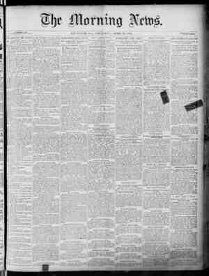 The Morning News Gazetesi 28 Nisan 1887 kapağı