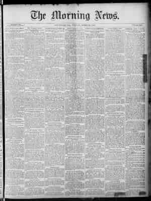 The Morning News Gazetesi 29 Nisan 1887 kapağı