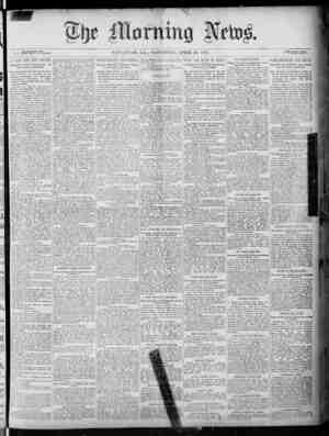 The Morning News Gazetesi 30 Nisan 1887 kapağı