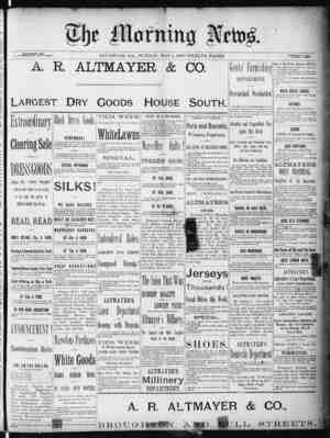 The Morning News Gazetesi 1 Mayıs 1887 kapağı