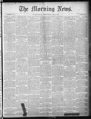 The Morning News Gazetesi 4 Mayıs 1887 kapağı