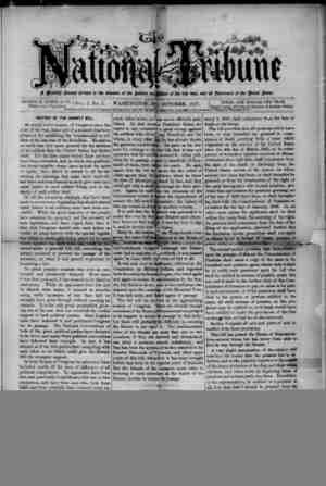 The National Tribune Gazetesi 1 Ekim 1877 kapağı