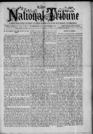 The National Tribune Gazetesi 1 Kasım 1877 kapağı