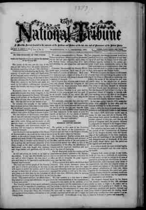 The National Tribune Gazetesi 1 Aralık 1877 kapağı