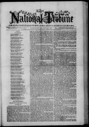 The National Tribune Gazetesi 1 Ocak 1878 kapağı