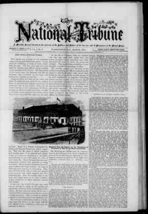The National Tribune Gazetesi 1 Mart 1878 kapağı
