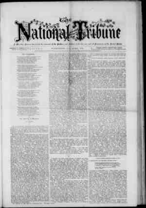 The National Tribune Gazetesi 1 Nisan 1878 kapağı