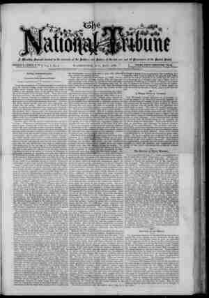 The National Tribune Gazetesi 1 Mayıs 1878 kapağı