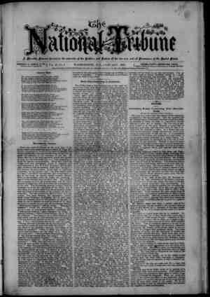 The National Tribune Gazetesi 1 Ocak 1879 kapağı
