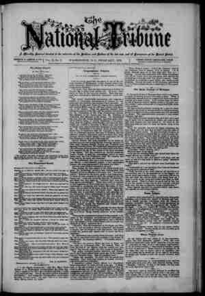 The National Tribune Gazetesi 1 Şubat 1879 kapağı