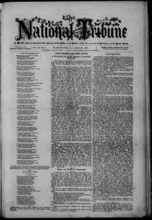 The National Tribune Gazetesi 1 Mart 1879 kapağı