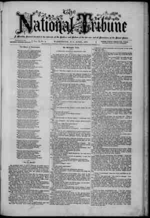 The National Tribune Gazetesi 1 Nisan 1879 kapağı