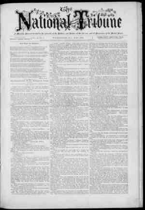 The National Tribune Gazetesi 1 Mayıs 1879 kapağı