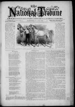 The National Tribune Gazetesi 1 Temmuz 1879 kapağı
