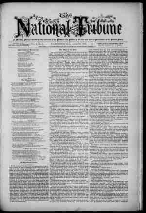The National Tribune Gazetesi 1 Ağustos 1879 kapağı