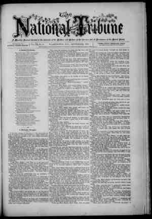 The National Tribune Gazetesi 1 Eylül 1879 kapağı