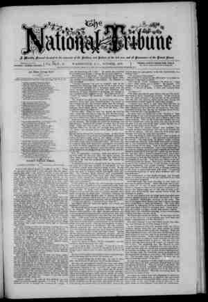 The National Tribune Gazetesi 1 Ekim 1879 kapağı